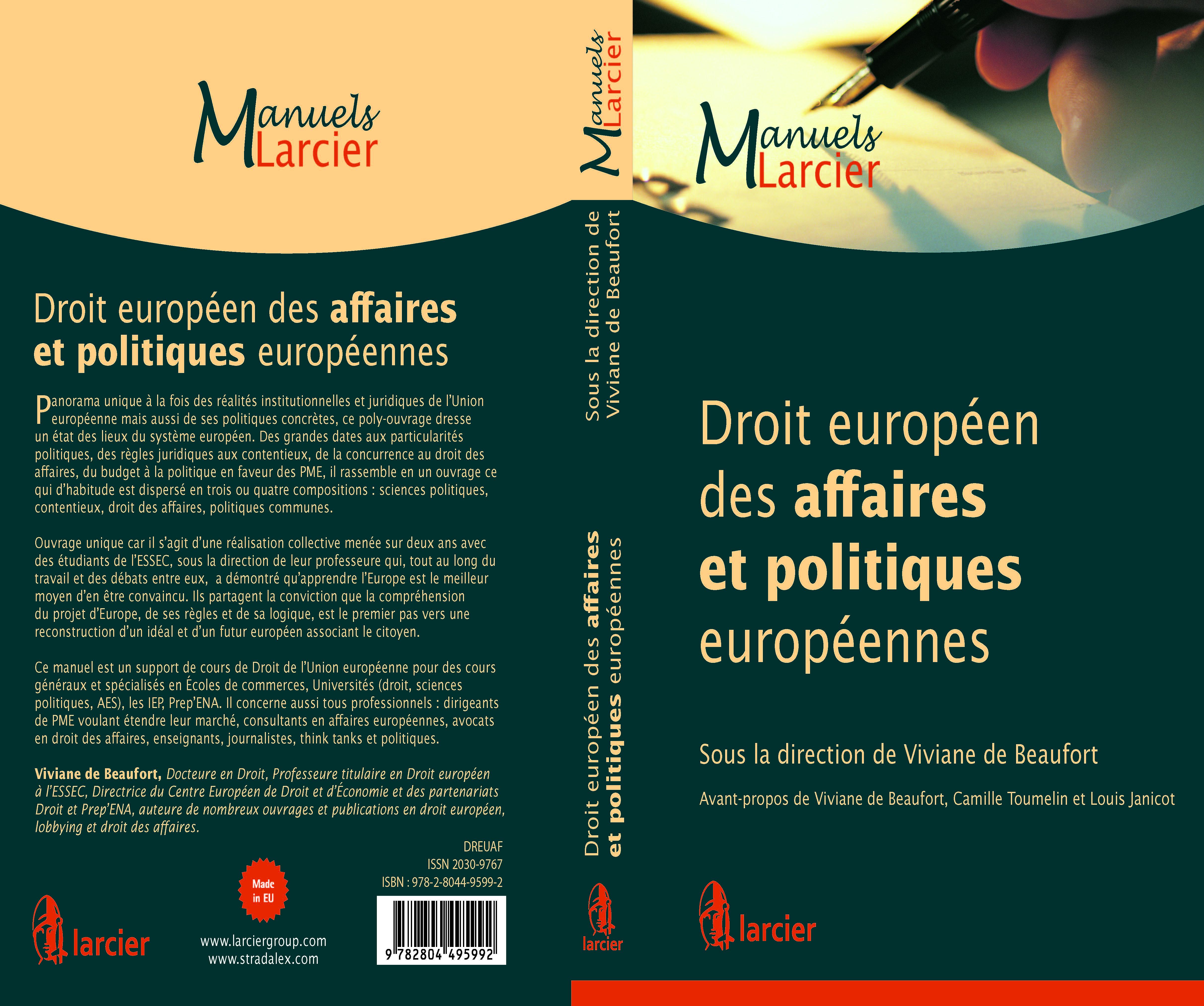 Le manuel de Droit européen des affaires et politiques européennes